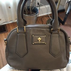 Marc by Marc Jacobs Taupe Leather Turnlock Bag